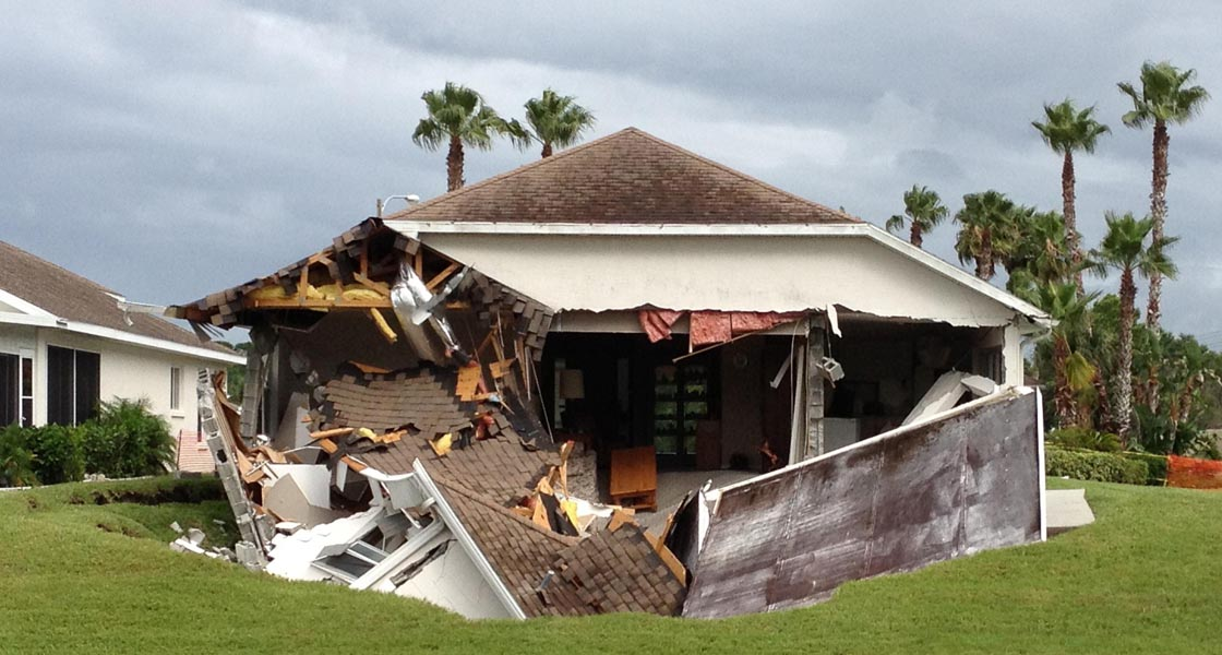 Hudson Florida Home Swallowed by Sinkhole
